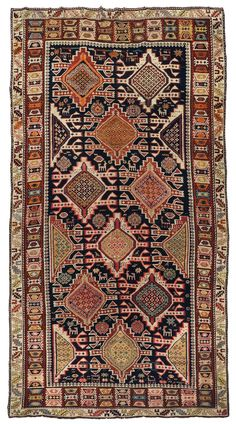 A Caucaso Shirvan long rug end 19th century.Good condition.  from cambi casa d'este