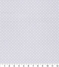Made in America Cotton Fabric-Pearl Polka Dot Gray