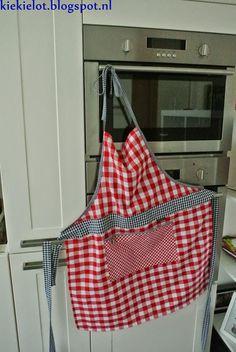 Het keukenschort, schort, diy, naaien, apron http://kiekielot.blogspot.nl