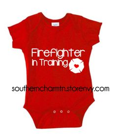 Firefighter in Training FF Firefighter Infant Onesie