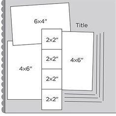 "12x12"" Scrapbook Page Sketches 1-30: Scrapbook Page Sketch 037"