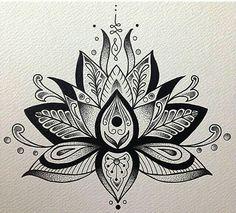 Unalome and lotus flower bodyart tattoos, lotus mandala tattoo, mandala Lotus Mandala Tattoo, Lotus Flower Mandala, Mandala Tattoo Design, Tattoo Designs, Tattoo Ideas, Lotus Flowers, Mandala Art, Lotusblume Tattoo, Unalome Tattoo