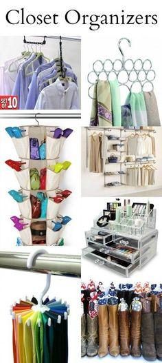 Closet Organizers perfect for any size space. #closetorganization