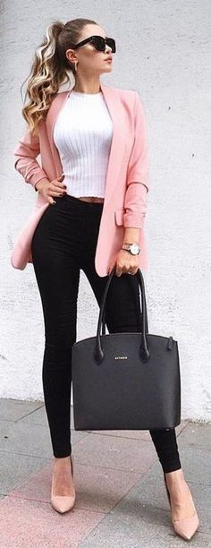 Work attire ideas for Fashion outfits Work Outfits Office Outfits Fall Fashion 2019 Winter Outfits 2019 Pants Outfits 2019 Crop Top Outfits 2019 Summer Fashion 2019 Casual Work Outfits, Mode Outfits, Work Attire, Work Casual, Fashion Outfits, Dress Casual, Classy Outfits For Women, Fashion Clothes, Fashion Ideas