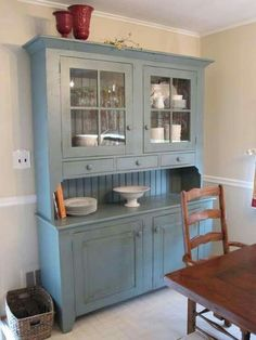 Need this for my kitchen want a different color though This beautiful glazed dresser is from the deVOL Real Shaker  . Kitchen Hutches. Home Design Ideas