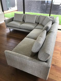 Made in Australia, the Smyth Shallow sofa is designed by Studio Pip and fully upholstered in fabric or leather. the lounge is available in 2 depths with a matching chair and ottoman. Chair And Ottoman, Kitchen Living, Sofas, Lounge, Couch, Mood, Contemporary, Furniture, Design