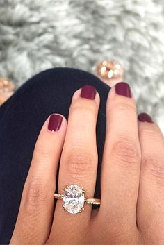 Looking for a rose gold engagement ring? Rose gold engagement rings are some of the sweetest trends we've seen recently in the engagement world. Here's a collection of our favorite rose gold rings. Rose Gold Engagement Ring, Wedding Engagement, Wedding Bands, Wedding Vows, Dream Wedding, Wedding Ideas, Trendy Wedding, Wedding Ring, Engagement Nails