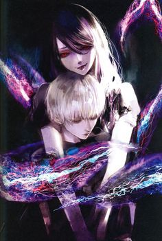 Ken Kaneki and Rize Kamishiro | This show really has amazing artists doing the fan art~ | Tokyo Ghoul ▪