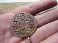Celtic Copper Disk Pendant For Your Jewelry by LeapingFrogDesigns, $5.00