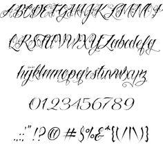Alana font alphabet | Calligraphy | Calligraphy fonts ...