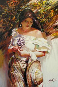 Painting by Arkady Ostritsky Gustav Klimt, Impressionist Art, Impressionism, Claude Monet, Pepe Le Pew, Anne Geddes, Classic Artwork, Diego Rivera, Oil Portrait