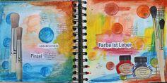 Art Journal #2 – Wasserfarben, Neocolor II & Tombow
