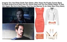 """""""Imagine You Are Peter Quills Twin Sister. After Years He Finally Comes Back To Earth Even If It Is Only Just For Some Days And You Are Really Happy To See Him Again, But He Is Not Happy That You Are Married To A Older Man (Tony Stark)"""" by alyssaclair-winchester ❤ liked on Polyvore featuring Mode, Nicole Miller, Miss Selfridge, Urban Expressions, H&M und Marc Jacobs"""