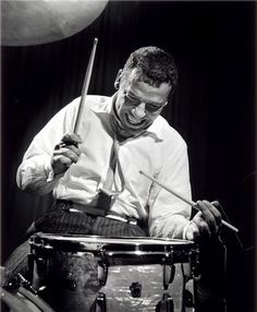 Buddy Rich, by Herman Leonard NYC, New York 1954