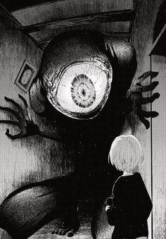 変 態 #ホラー #マンガ Manga Art, Manga Anime, Anime Art, Creepy Art, Scary, Monsters Rpg, Art Noir, Drawn Art, Poses References