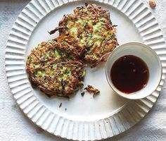 Zucchini Fritters Recipe  at Epicurious.com