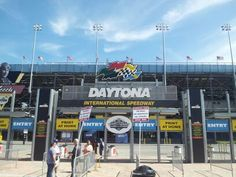After working hard to set up the booth, we headed over to see a qualifying session at #Daytona International Speedway! #GOA2013