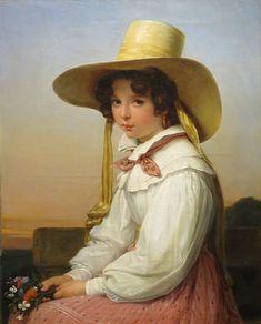 """Auguste Vinchon: """"Portrait of Nency Destouches"""",   1829, oil on canvas, High Museum of Art."""