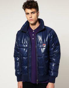 45a9c1555f Fila Vintage Padded Ski Jacket Fila Vintage, Pvc Raincoat, Jacket Men,  Bomber Jacket
