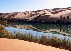 Umm-al-Maa, Oasis, Libyan Sahara.