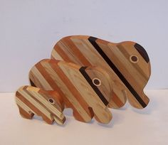 3 Elephant set of Cutting/Cheese Boards by tomroche on Etsy, $32.00