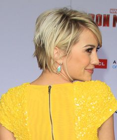 Chelsea Kane - Casual Short Straight Hairstyle - side view