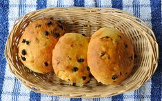 Saffron Bun: Still known as 'Tea Treat Buns' in their home of West Cornwall, saffron buns are best eaten warm, or toasted with butter and jam. Actually, they're best eaten full stop. Get the recipe. Read Recipe by rebaldock Uk Recipes, Great Recipes, Favorite Recipes, Recipies, Saffron Buns Recipe, Saffron Cake, Bedfordshire Clanger, Scottish Recipes, British Recipes