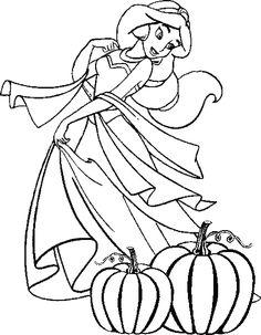 Disney Princess Free Disney Halloween Coloring Pages