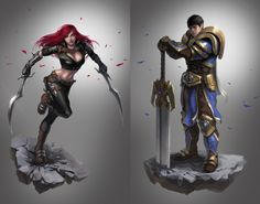Katarina X Garen. Not a fan of Katarina, but Garen looks mad cool here