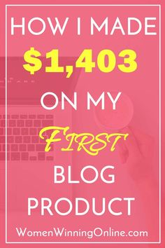 Using these 13 steps to make money blogging, I made $1,403 on my first program launch. Click through to find out how!