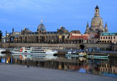 #Dresden #Academy of #Fine #Arts, #Elbe #river, #Dresden, #Germany