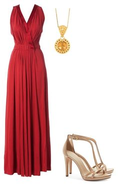 Red & Gold by jeannine-kalua-1 on Polyvore featuring polyvore, fashion, style, Nina Ricci and Tory Burch
