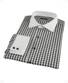 Black Classic Gingham by Proper Cloth