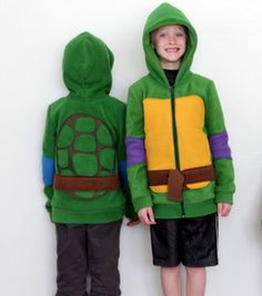 Homemade Ninja Turtle Costume - Give your little guy the costume of his dreams without spending a fortune with this Homemade Ninja Turtle Costume. He will love dressing up like his favorite crime-fighting amphibian, and you'll love how affordable and adorable this DIY costume is.