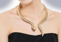 """Decima"" Serpent Statement Necklace – Nicoletta Carlone"
