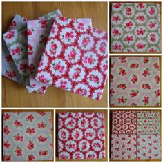 Ceramic Tile Coasters with Cath Kidston style design Set of Four 10cm x10cm with gloss finish Felt backed Water resistant - wipe clean only Not suitable for dish washer  NB this is not Cath Kidston fabric