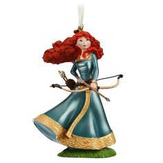 Brave Merida Sketchbook Christmas Ornament Figurine - Authentic and exclusive Disney Store ornament Link Disney Christmas Decorations, Disney Ornaments, Glass Ornaments, Merida Disney, Brave Merida, Christmas Story Books, Christmas Stuff, Disney Figurines, 1 Gif