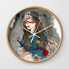 """Available in natural wood, black or white frames, our 10"""" diameter unique Wall Clocks feature a high-impact plexiglass crystal face and a…"""