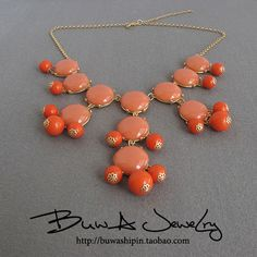 New J.CREW Bubble Bib Statement Necklace 9 colors for choose  for a mere 15.88...are you kidding me? I can't even MAKE it for that myself! Bought one!