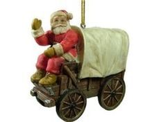 Santa Claus on a Country Western Covered Wagon Christmas Ornament Western Christmas Decorations, Burlap Christmas, Christmas Tree Themes, Christmas Tree Toppers, Country Christmas, Christmas Tree Ornaments, Christmas Ideas, Rodeo Events, Covered Wagon