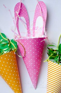 Easter Candy Cone- CHANGE THIS UP TO MATCH ANY HOLIDAY OR PARTY!