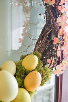 Spring wreath tutori - Check more details on www.prettyhome.org