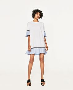 ZARA - WOMAN - DRESS WITH FRILLED SLEEVES