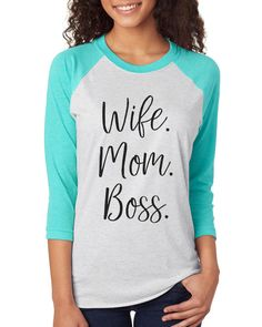 Wife Mom Boss Womens Funny Shirt Womens by TeeRificDesigns on Etsy