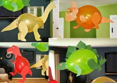 Combine DIY and dinosaurs for the perfect kids craft activity! With the new Jurassic World movie coming to theaters soon, we wanted to share 10 of our favorite dinosaur crafts of all time. Dinosaur Balloons Create your favorite dinosaurs using … Read Dinasour Crafts, Dinosaur Crafts Kids, Dino Craft, Kids Crafts, Dinosaur Activities, Craft Activities For Kids, Diy Dinosaur Decorations, Dinosaur Projects, Dinosaur Balloons