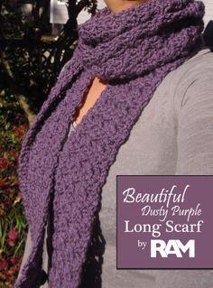 Beautiful Dusty Purple Long Scarf by DesignsByRAMDesigns on Etsy, $25.00