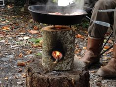 Make A Single Log Rocket Stove For Cooking In A Survival Situation  http://www.survivorninja.com/a-single-log-rocket-stove/