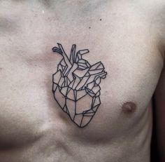 Chest tattoo heart