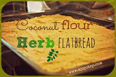 Coconut flour Herb Flatbread ---mygutsy.com