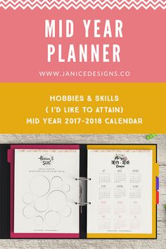 Hobbies and Skills & Mid Year Calendar